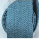 Bandes molletières en laine chevrons 620cm - Indigo clair