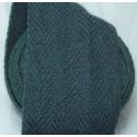 Bandes molletières en laine chevrons 640cm - Turquoise foncé