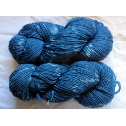 12/4 wool - Indigo tie and dye