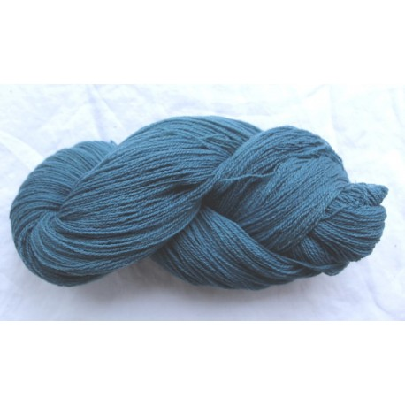 French prealpine wool 16/2 - Fermentation indigo, light blue