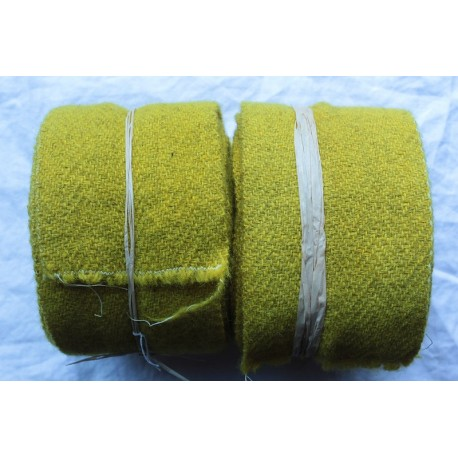 Bandes molletières en laine 600cm - Jaune gaude