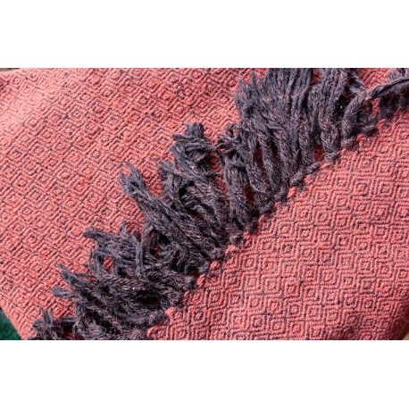 Handwoven shawl, dyed with madder
