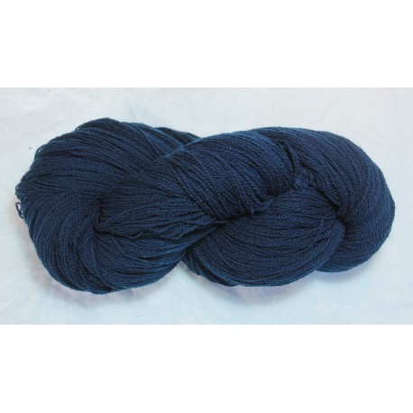 French prealpine wool 16/2 - Fermentation indigo, dark blue