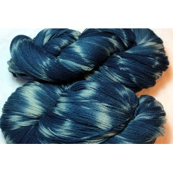 French prealpine wool 16/2 - Fermentation indigo, tie and dye blue