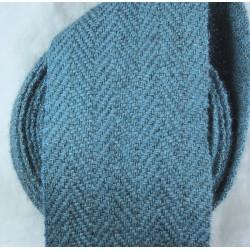 Bandes molletières en laine chevrons 630cm - Indigo
