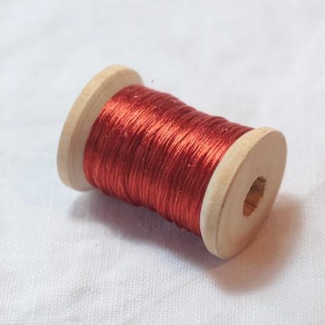 Soie ovale - Rouge garance clair