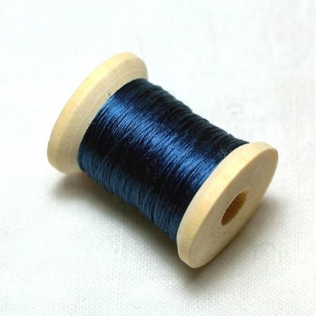 Flat silk - Dark indigo blue
