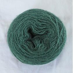 Soie tussah 20/2 vert gaude + indigo