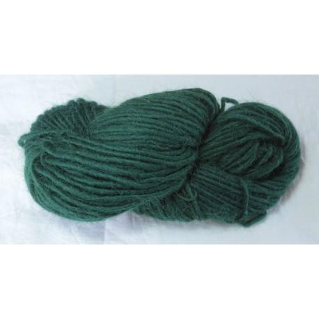 Icelandic 1-ply wool - Dark birch + indigo green