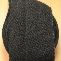 """Bandes molletières en laine 610cm - """"Noir"""""""