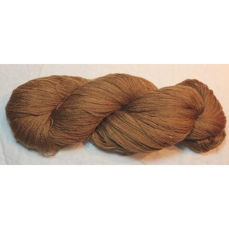 Mérinos et soie 16/2 - Brou de noix fauve