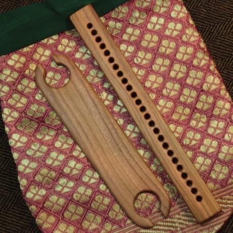 Pack cadeau navette et séparateur de chaîne en bois massif