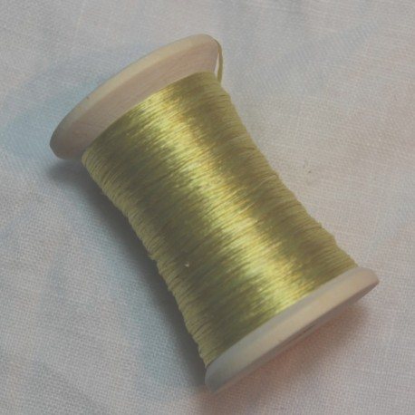 Flat silk 100m - Light yellow