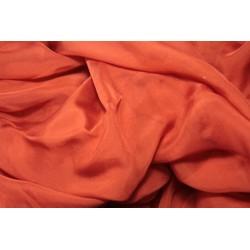 Mousseline de soie 115 x 395 cm - Rouge Garance