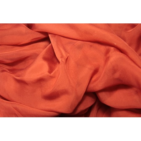 Silk mousseline 115 x 395cm - Madder red