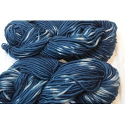 French 1-ply - Tie dye indigo blue, dyed in a fermentation vat